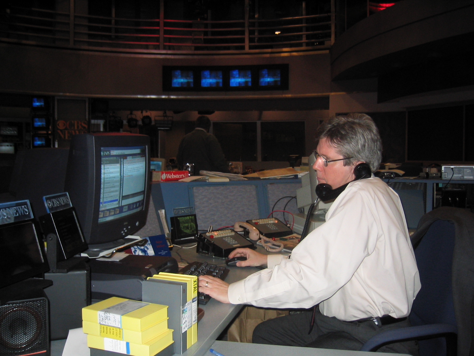 At CBS News headquarters, 2003.