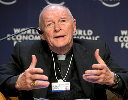 Theodore McCarrick, who resigned in disgrace from the College of Cardinals following charges of sexual abuse.  Image via Wikimedia Commons.