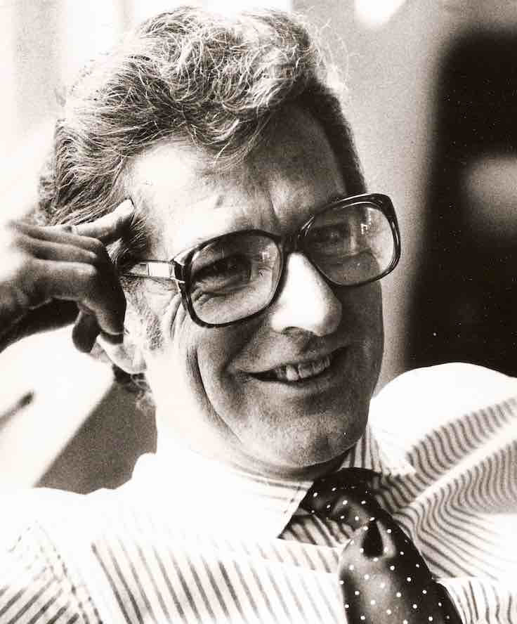Steve Dunleavy, tabloid journalist extraordinaire, 1988. Courtesy Fox Television.