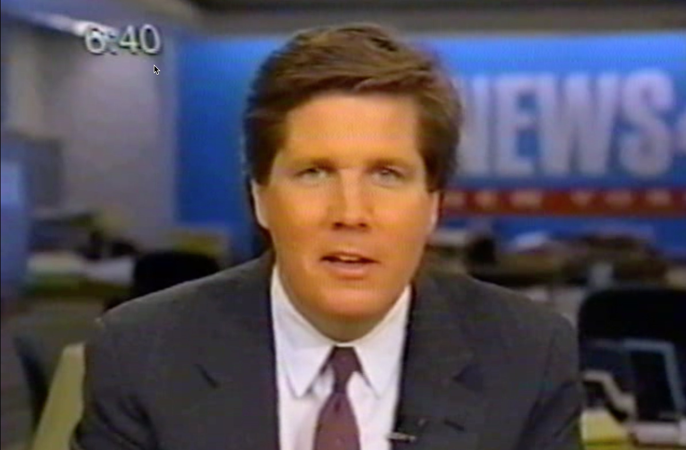 Steve Dunlop reporting for  NBC New York , 1994.