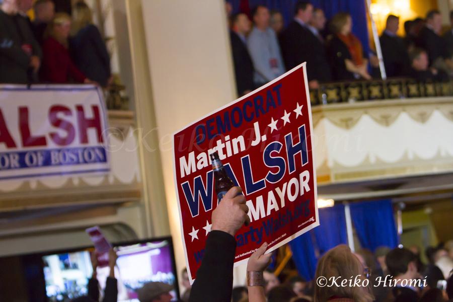 November 5, 2013, Boston Mayor-elect Martin Walsh election watch party on Tuesday night at Park Plaza in Boston, MA.