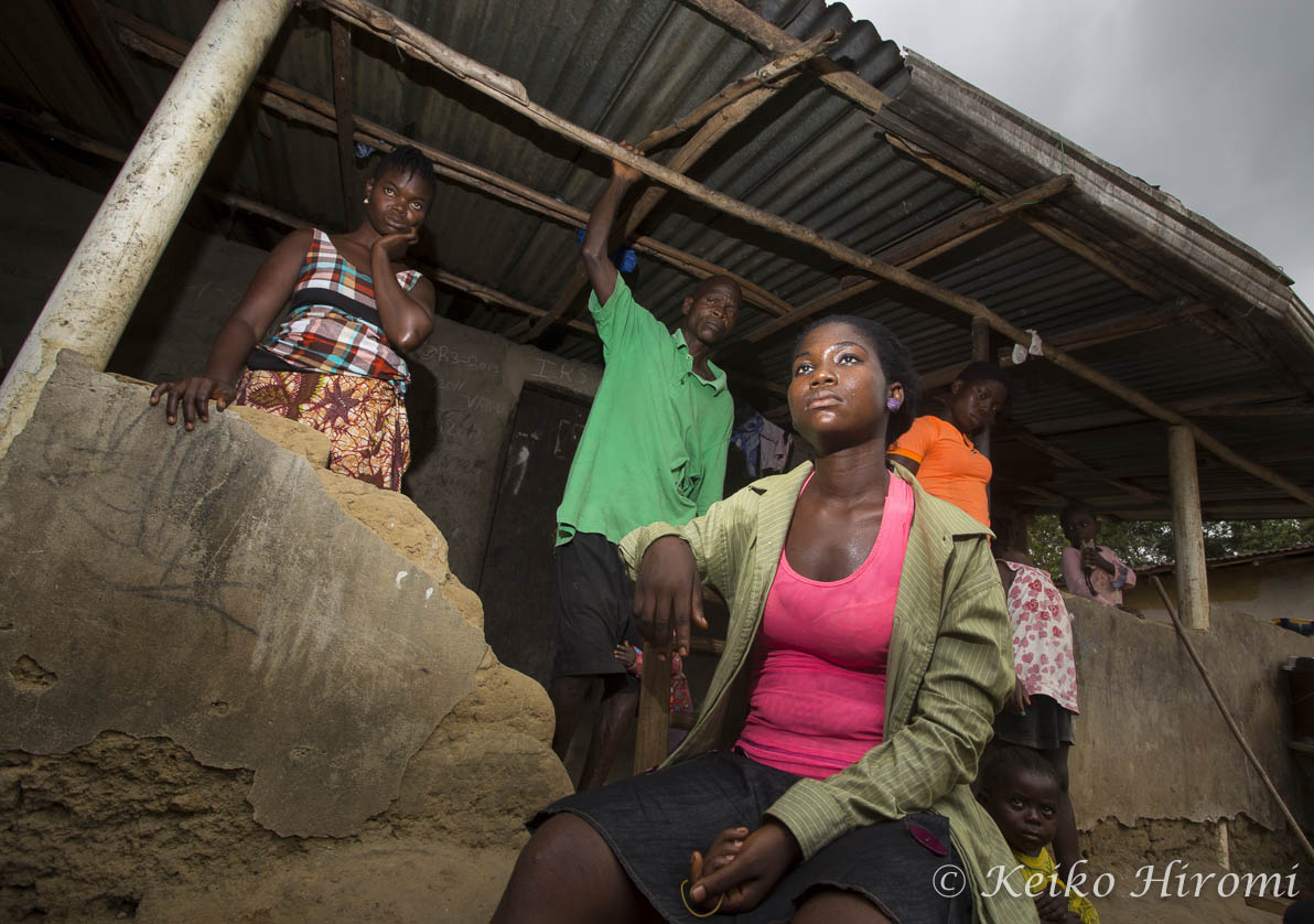 Ebola Survivor Nancy Paye with her surviving family