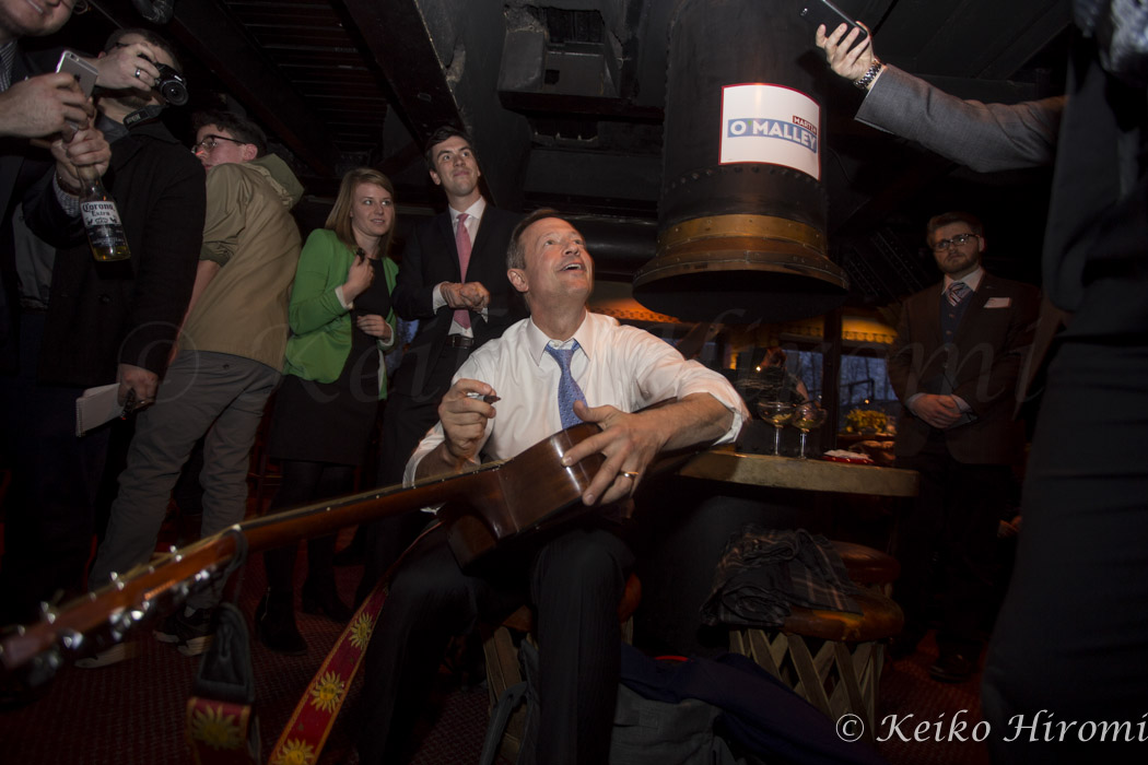 March 31, 2015 - Nashua, New Hampshire, United States: Former Maryland Governor Martin O'Malley campaigns at New Hampshire Young Democrats social hour at the Margaritas basement lounge