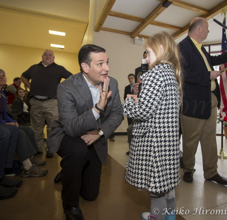 March 15, 2015 - Barrington, New Hampshire, United States: Senator Ted Cruz, R-Texas, a tea party favorite and presidential candidate in 2016, campaigns at the Strafford County Republican Committee Chili and Chat at Turbocam International.