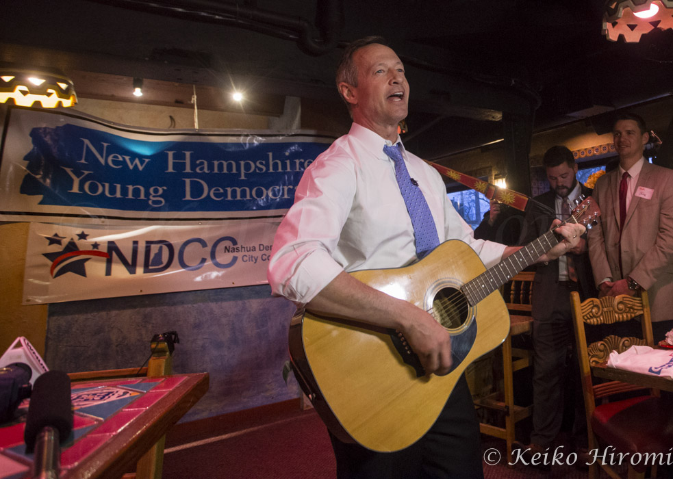 March 31, 2015 - Nashua, New Hampshire, United States: Former Maryland Governor Martin O'Malley campaigns at New Hampshire Young Democrats social hour at the Margaritas basement lounge.