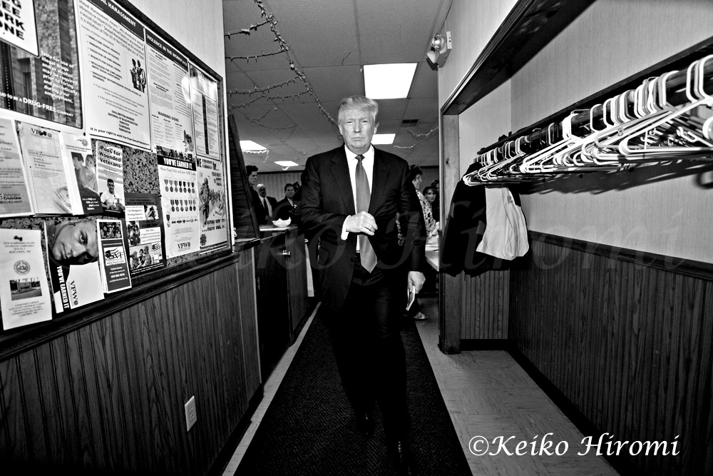 April 27, 2015: VFW Post 5791, Hudson, NH: Donald Trump, Republican Presidential candidate, campaigning VFW Post 5791 in Hudson, NH.