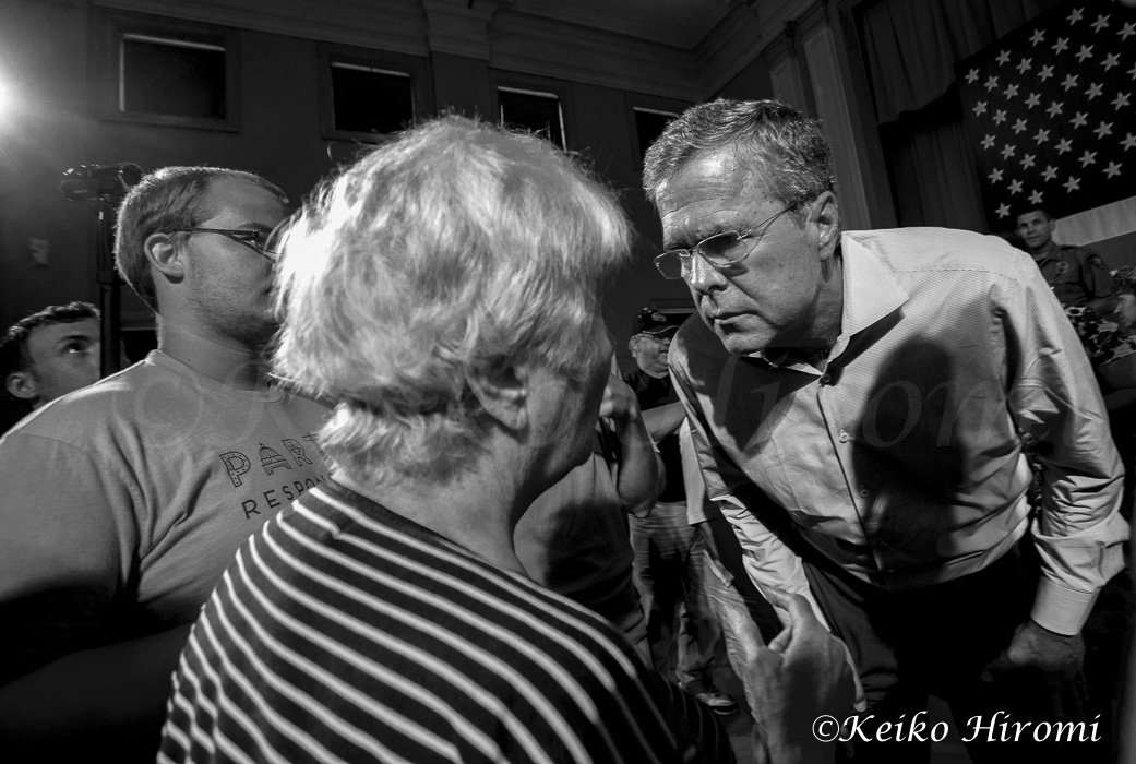 July 23, 2015 Gorham NH USA:  Republican Presidential candidate Jeb Bush campaigning at the Medallion Opera House in Gorham, NH.