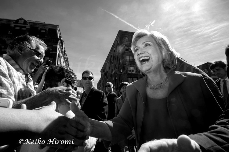 September 5, 2015, Portsmouth, NH USA: Hillary Clinton Democratic Presidential candidate greets people on streets in Portsmouth, NH.