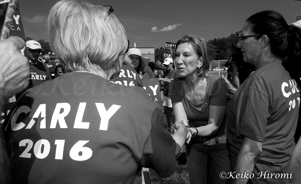 September 7, 2015, Milford, NH, USA: Republican Presidential candidate Carly Fiorina campaigning before Labor Day Parade in Milford, NH.