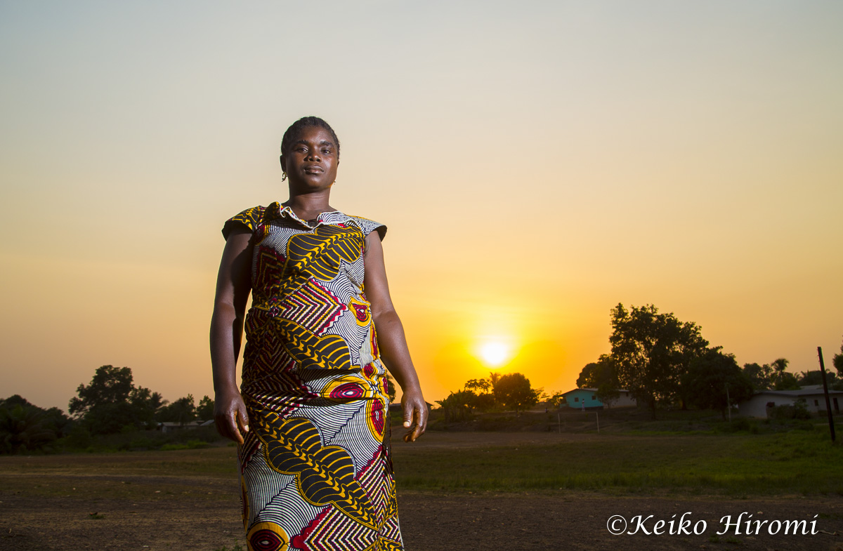 February 26, 2015: Ganba,  Liberia: Portrait of a woman community activist in Ganba, Liberia.