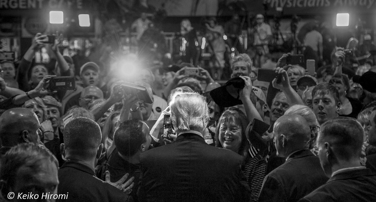 Trump in Bedford NH on September 29. 2016.