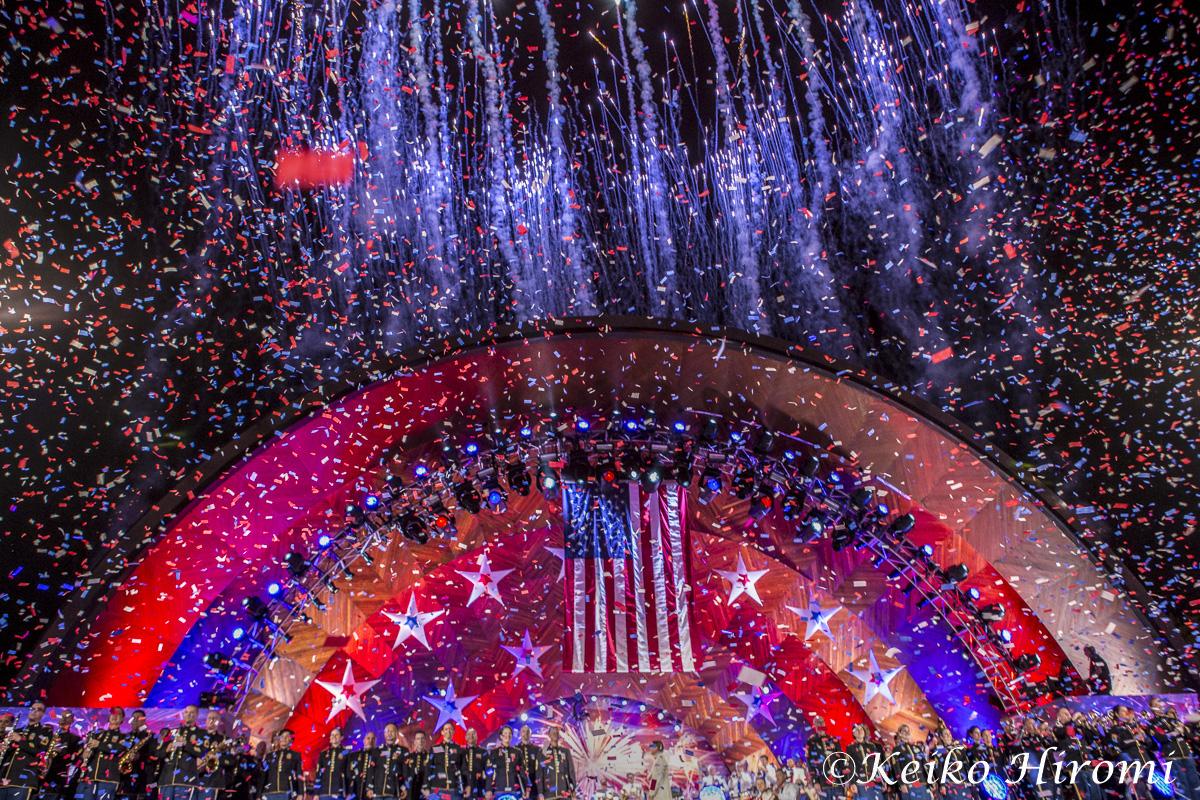 チャールズリバー沿いのエスペラナードで毎年行われる独立記念コンサート