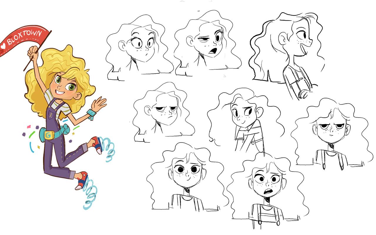 Goldie Blox Character Design