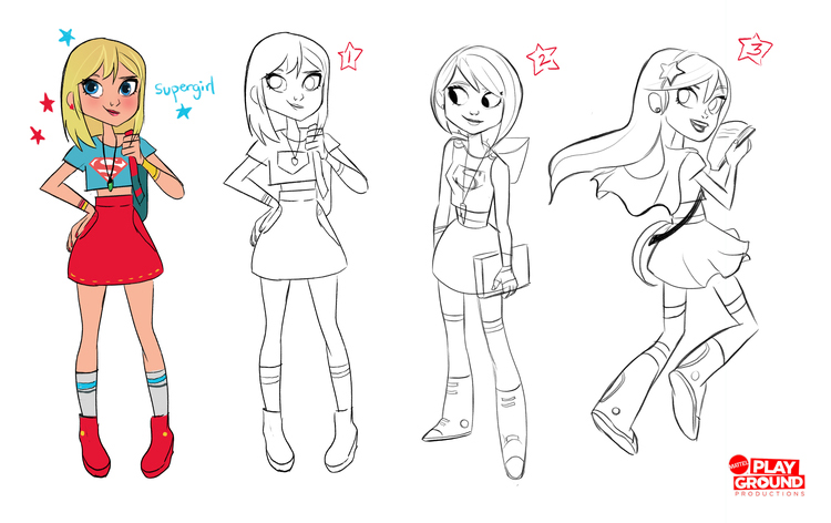 Visual Development for DC Girls