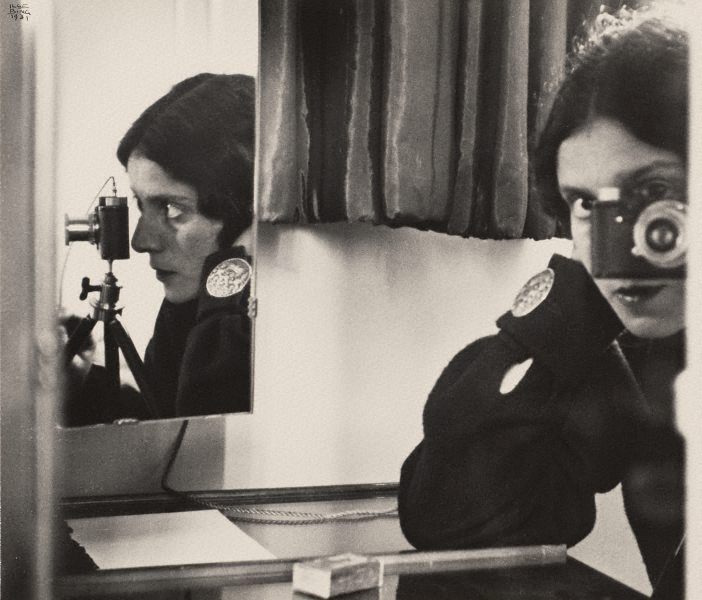 Ilse Bing,  Self-portrait with Leic a, 1931