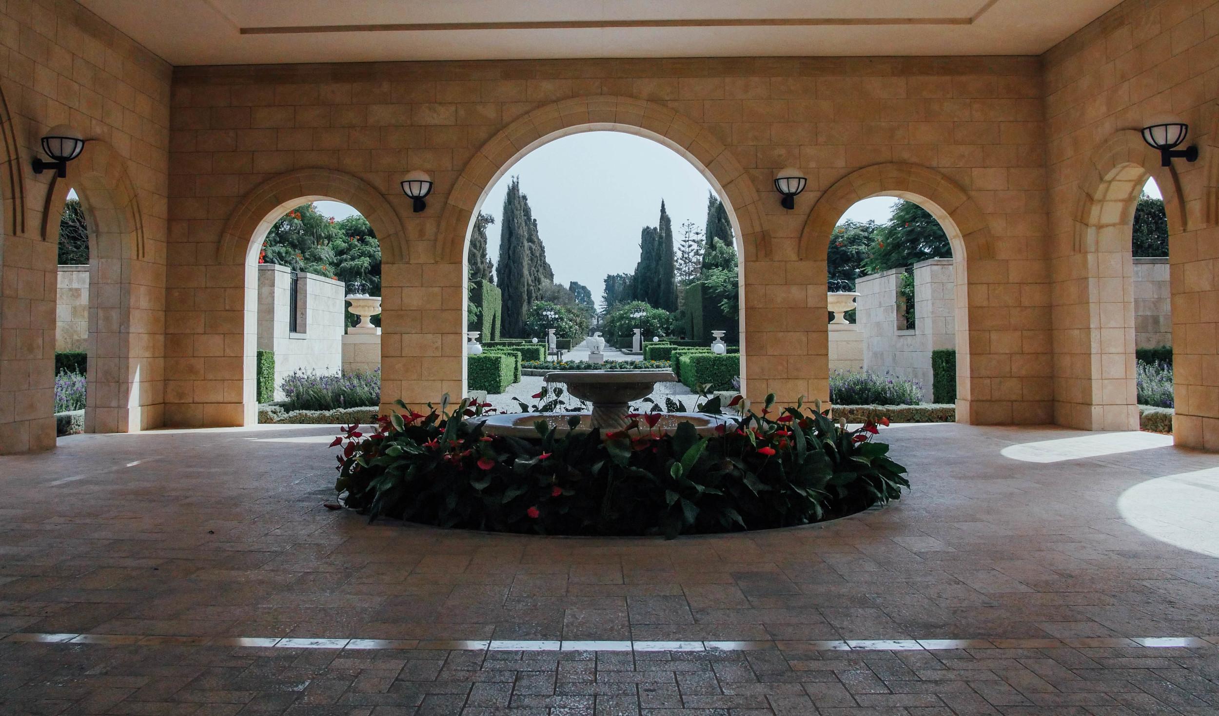 Entrance of the Bahai Garden, Acre side