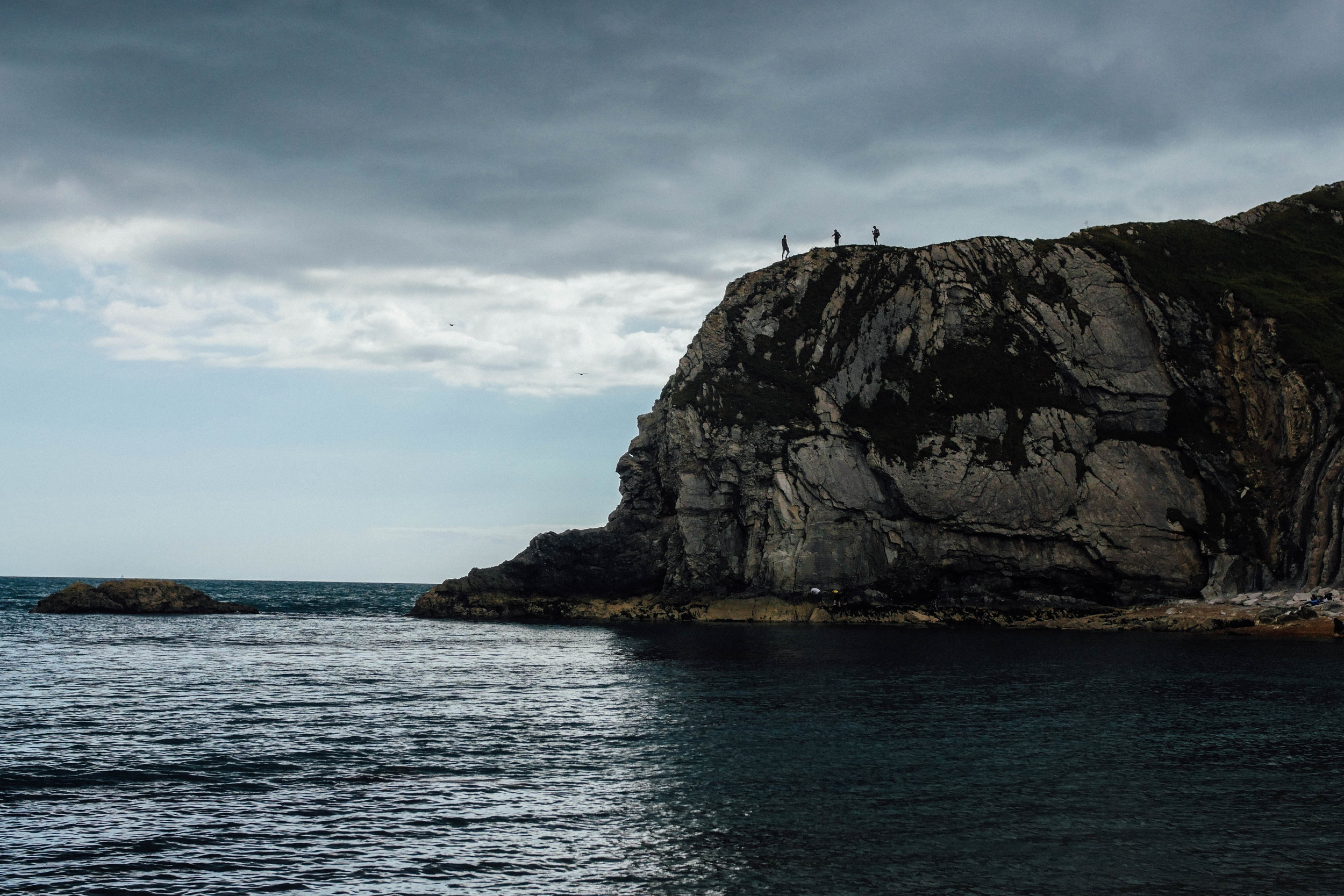 The other side of Lulworth Cove, in the Jurassic Coast in Dorset. Promotional shot for a local hiking shop.