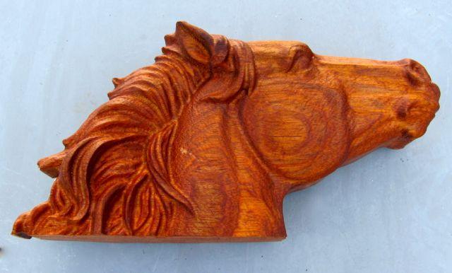 3D carved Jatoba wood
