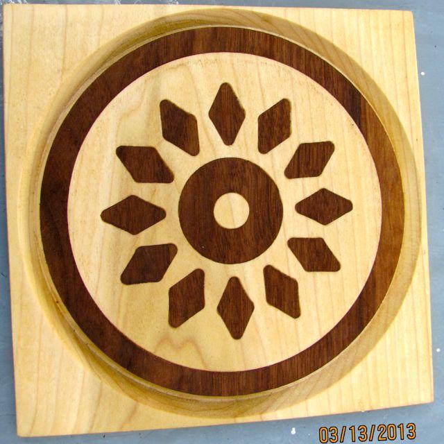 Inlay of Jatoba in Poplar wood