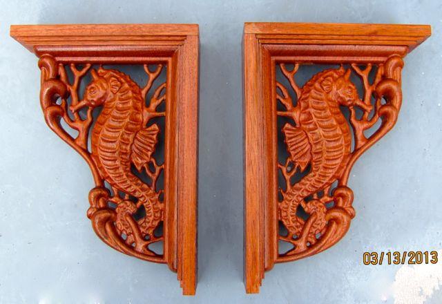 Jatoba Corbels carved on ShopBot
