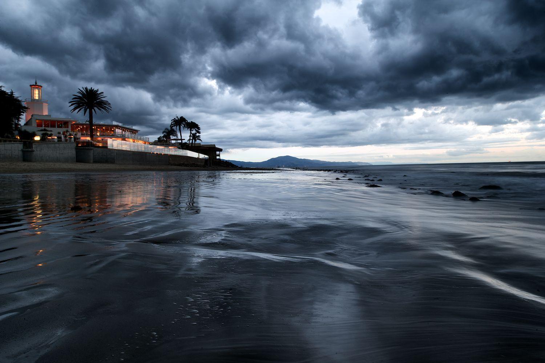 Coral Casino and Storm Clouds. Santa Barbara