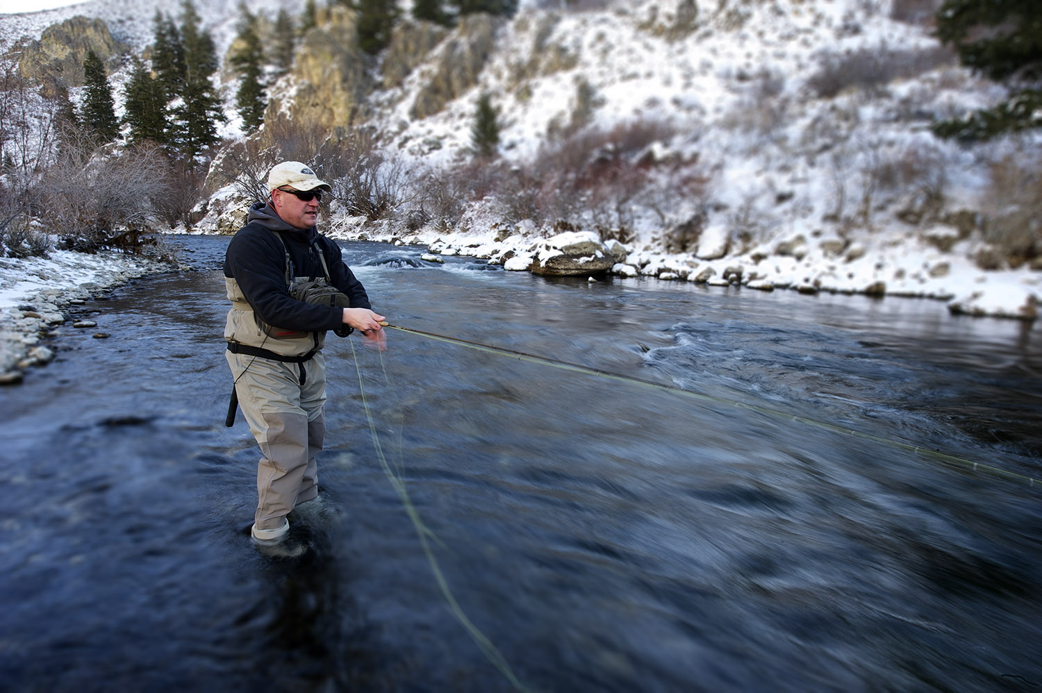 A winter morning on a side channel of the South Fork of The Boise River.