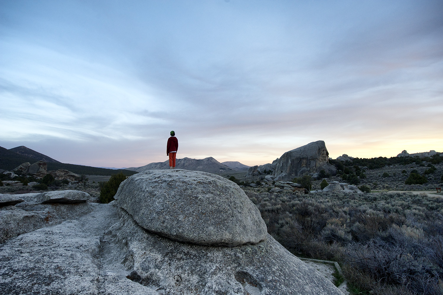 Will Price taking in the last light & Elephant Rock.