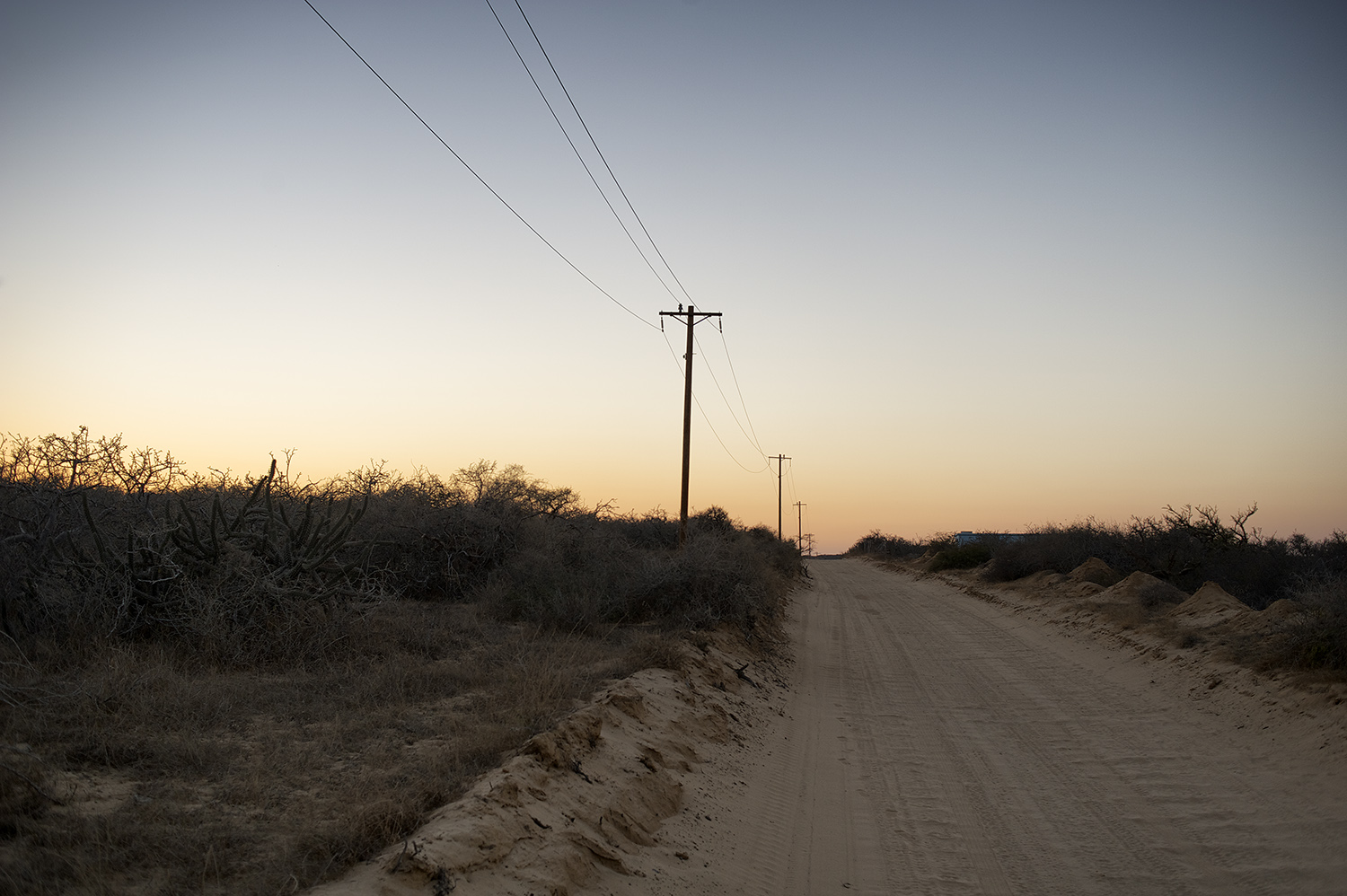 A typical East Cape Dirt road. There's miles of this type washboard along the coast.