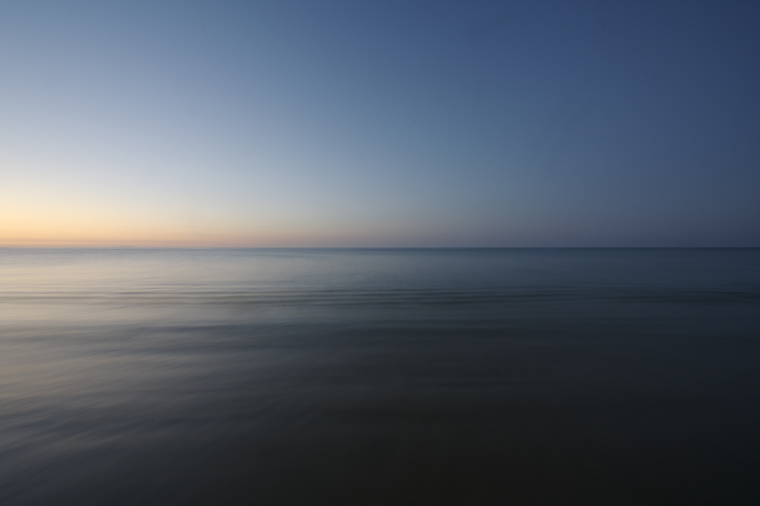 Long exposure horizon after sunset. East Cape, Baja, Mexico.