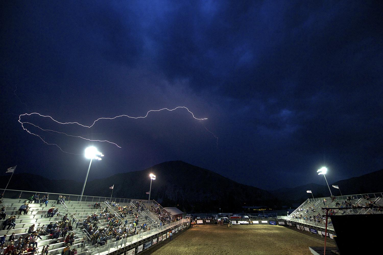 Thunderstorm & Hailey, Idaho Rodeo.