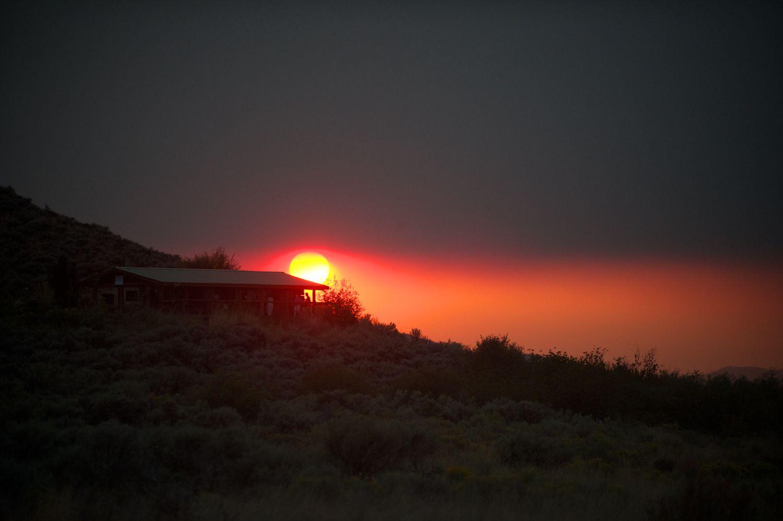 Nature Conservancy Cabin, Sun & Smoke. 8/31/13
