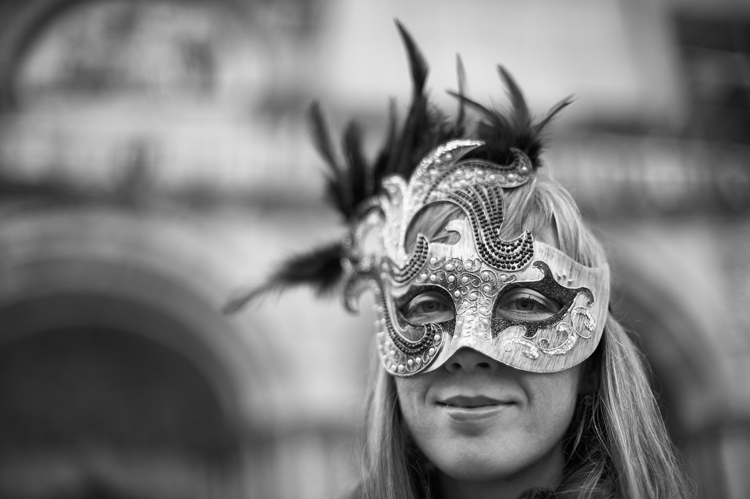 Portrait of a Young Russian Woman & Mask