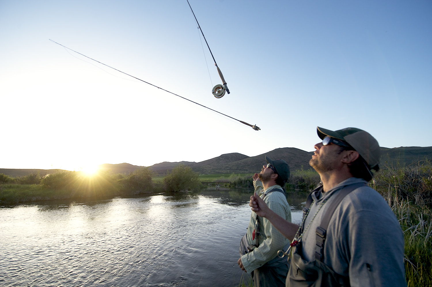 Another version of utilizing a fly rod when there is no hatch... Silver Creek.