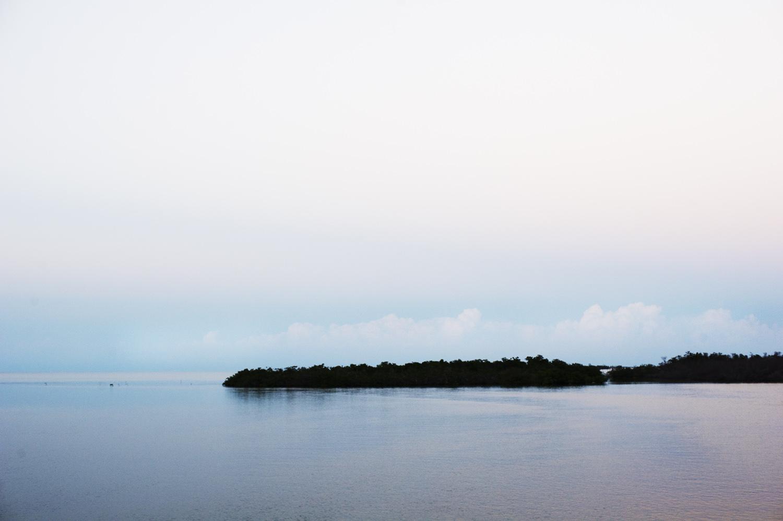 Last Light. Mangroves & Cays & Distant Cumulus Clouds. Jardines de la Reina, Cuba