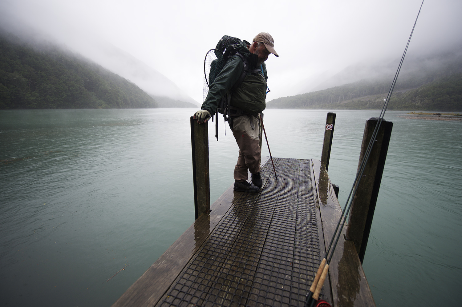 Guide Pete Carty Waits For The Water Taxi