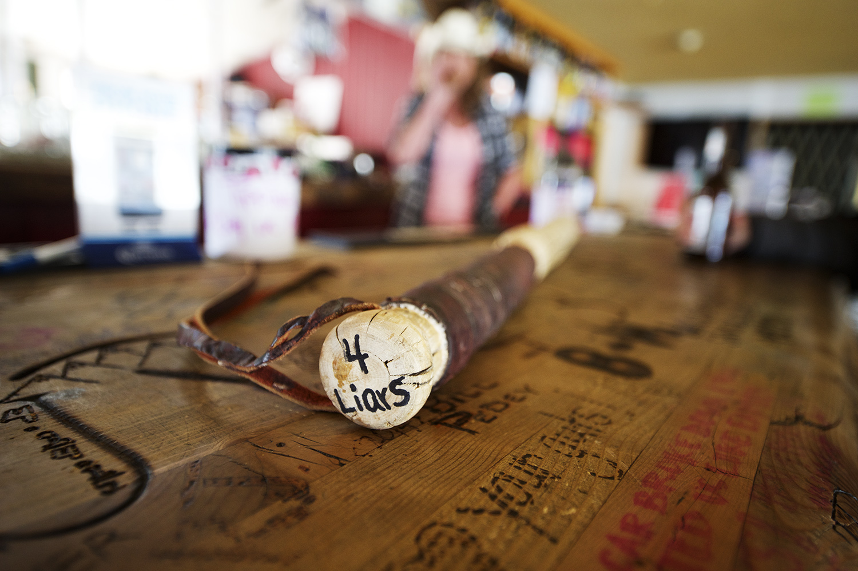 Apres fishing in the Liars Lounge. Clayton, Idaho.