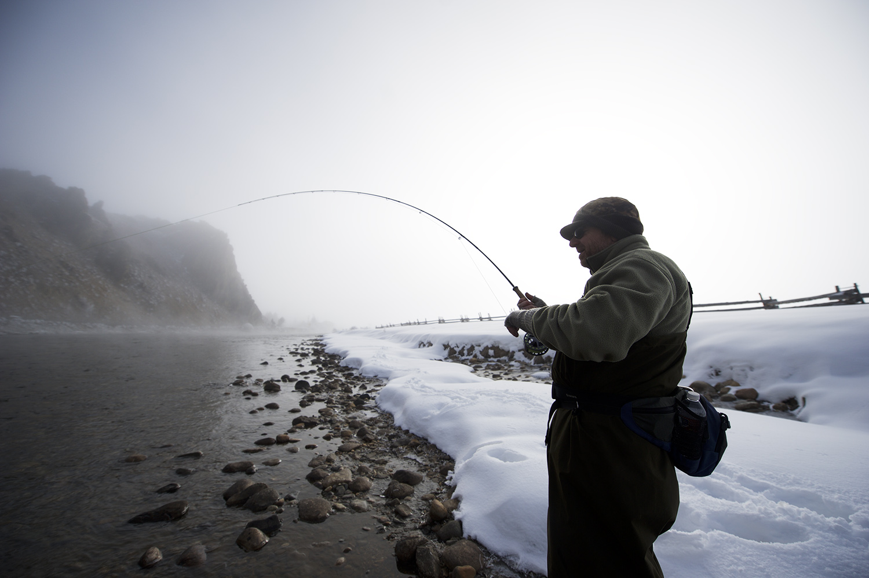 Salmon River, Idaho on a cold (4 degrees above zero) morning.