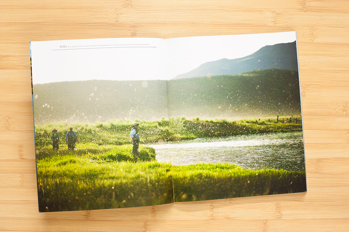 Two page image in the spring issue (7.3) of The FlyFish Journal