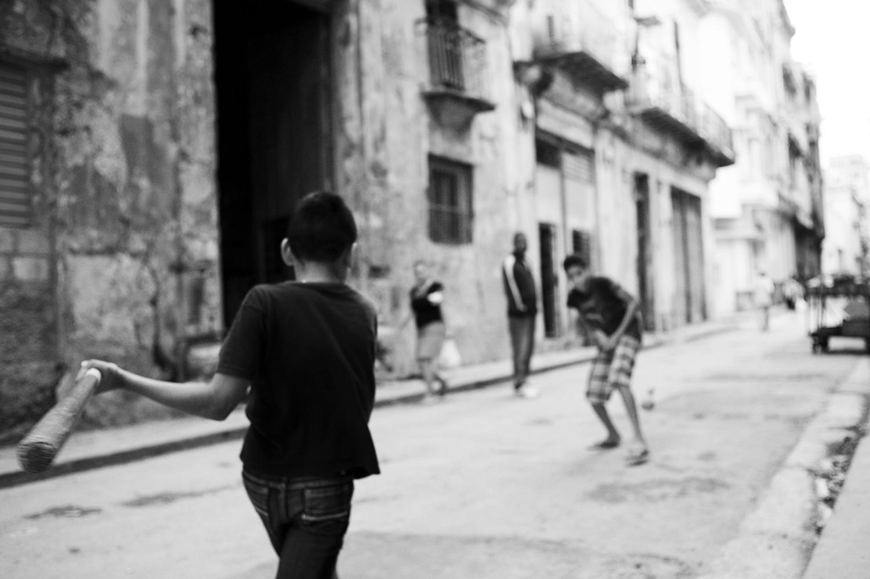 Street Baseball. Havana, Cuba.