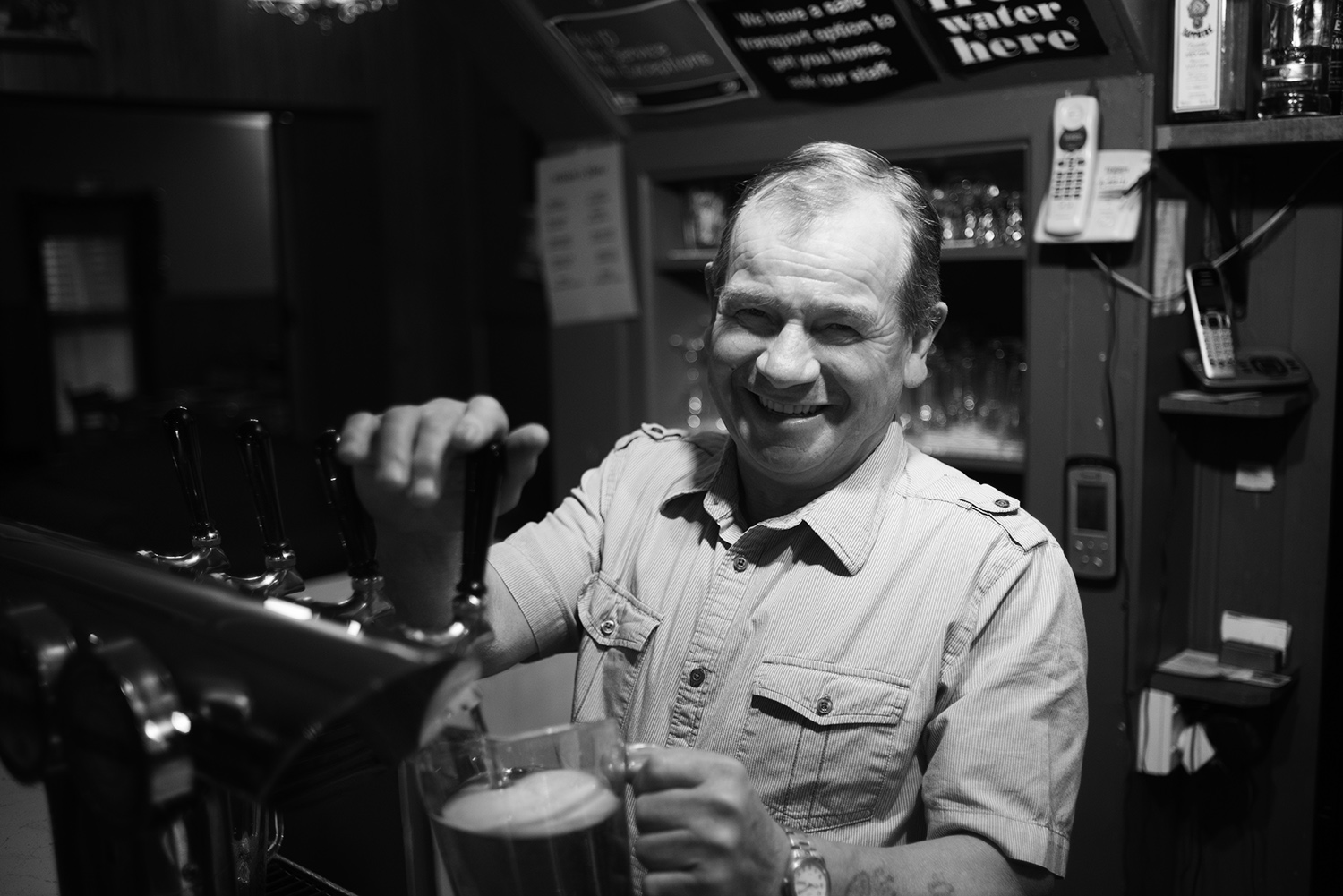 Jimmy. Owner of Wilsons Pub in Reefton, New Zealand.