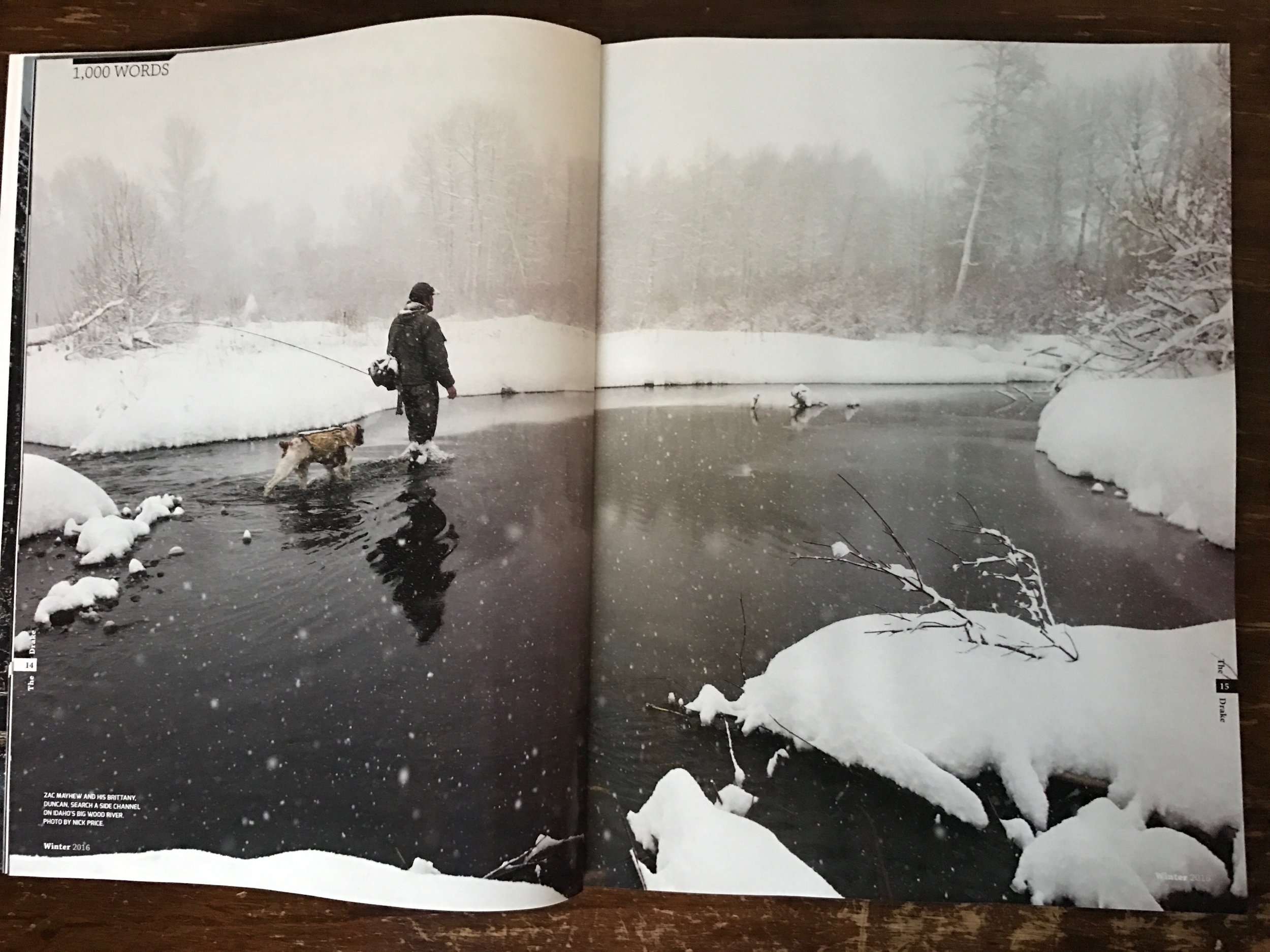 Two page image in the 2017 winter issue of The Drake Magazine.