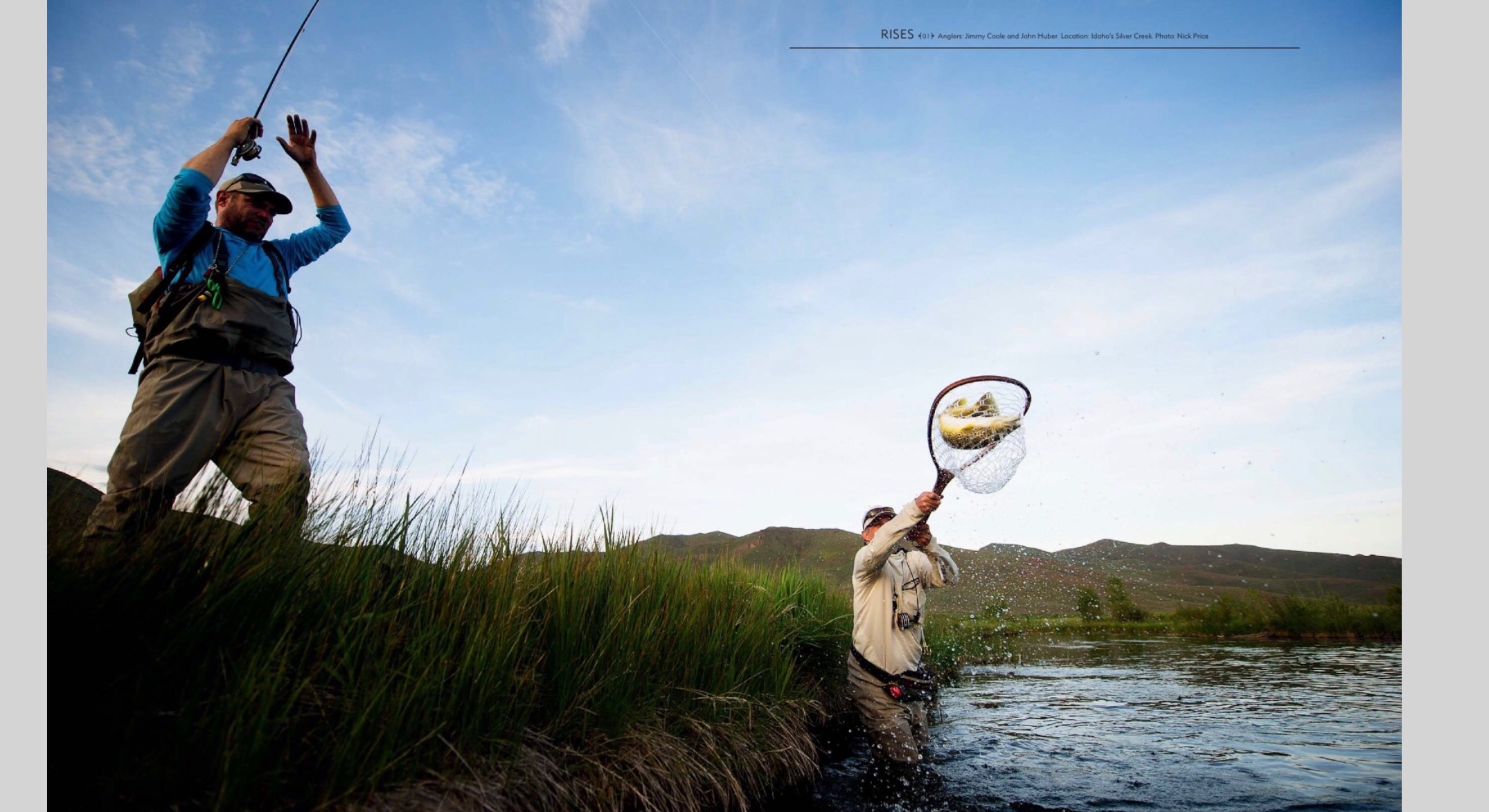 Two page image in The FlyFish Journal Spring of 2017 issue.