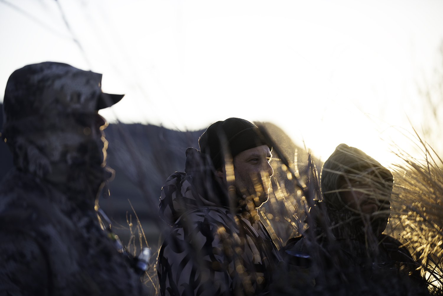 Sunrise & Coffee in the blind.