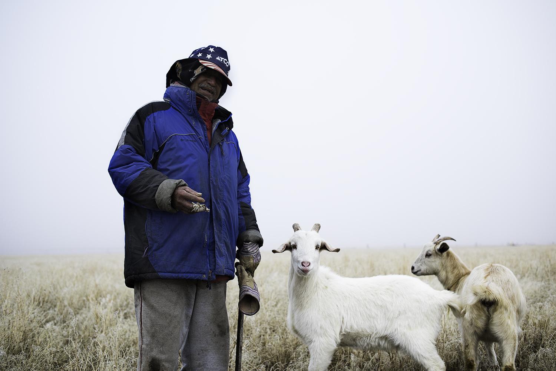 Goat Herder. Winter 2018. Idaho.