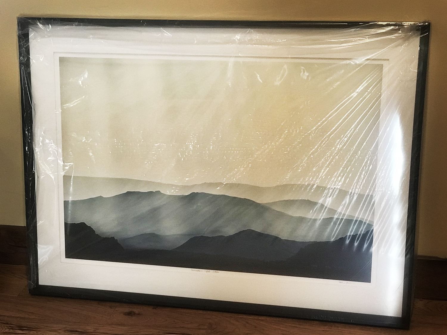 "16"" x 24""  Atmospheric Light  matted and framed to a total size of 32.5"" x 44.5"""