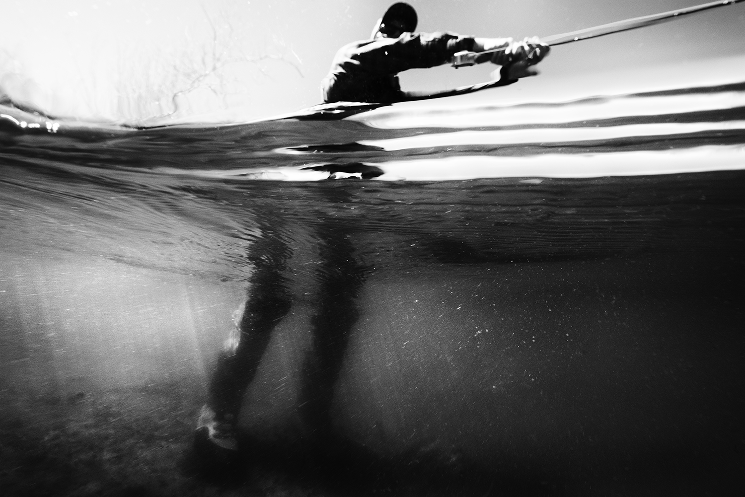 Cody Catherall hangs onto one yesterday on an Idaho River…