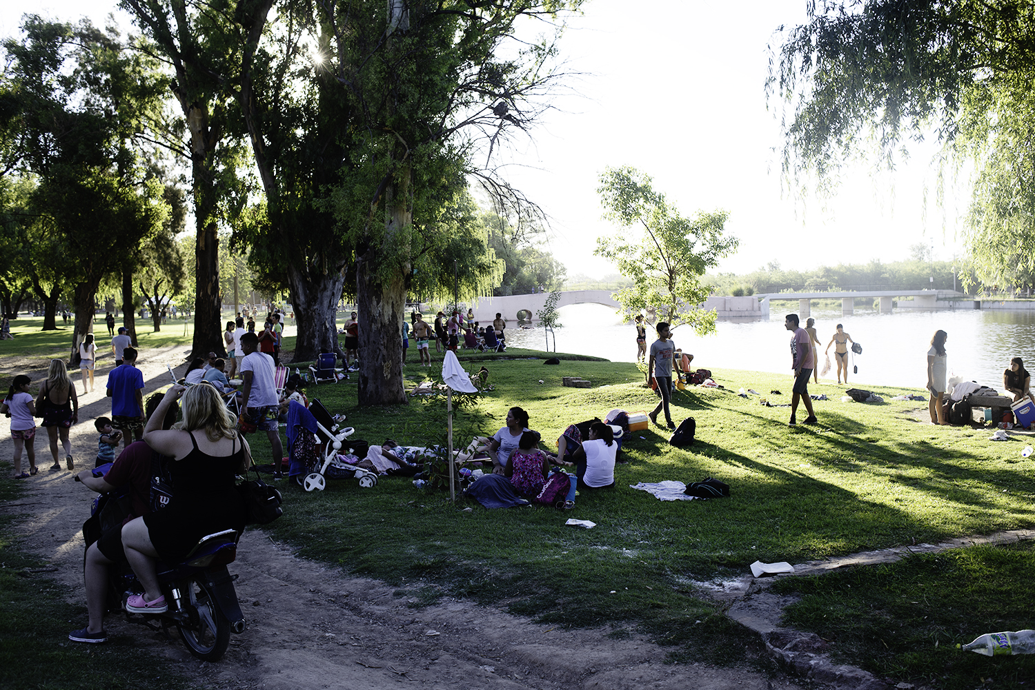 An Areco summer day at the park on the river