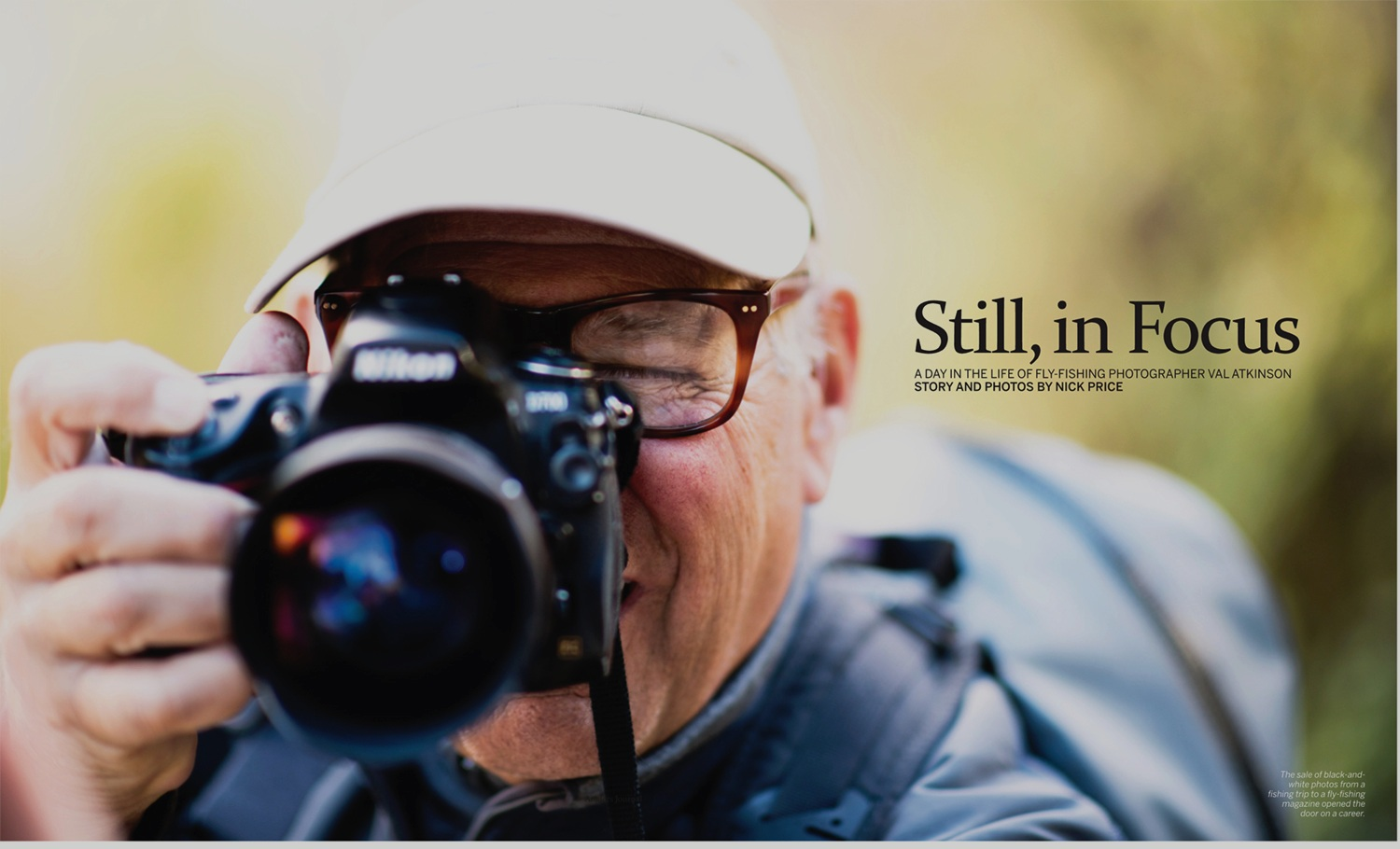 Feature story, words & photography, on Val Atkinson. Anglers Journal. Summer 2019