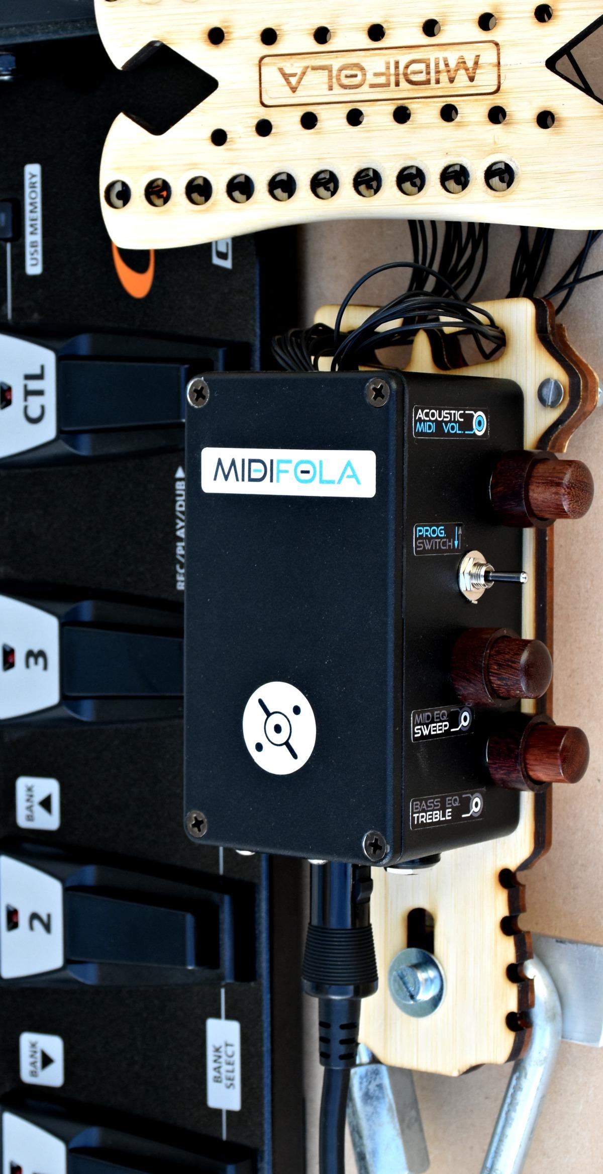 le système midifola transforme votre instrument en controleur midi électroacoustique.