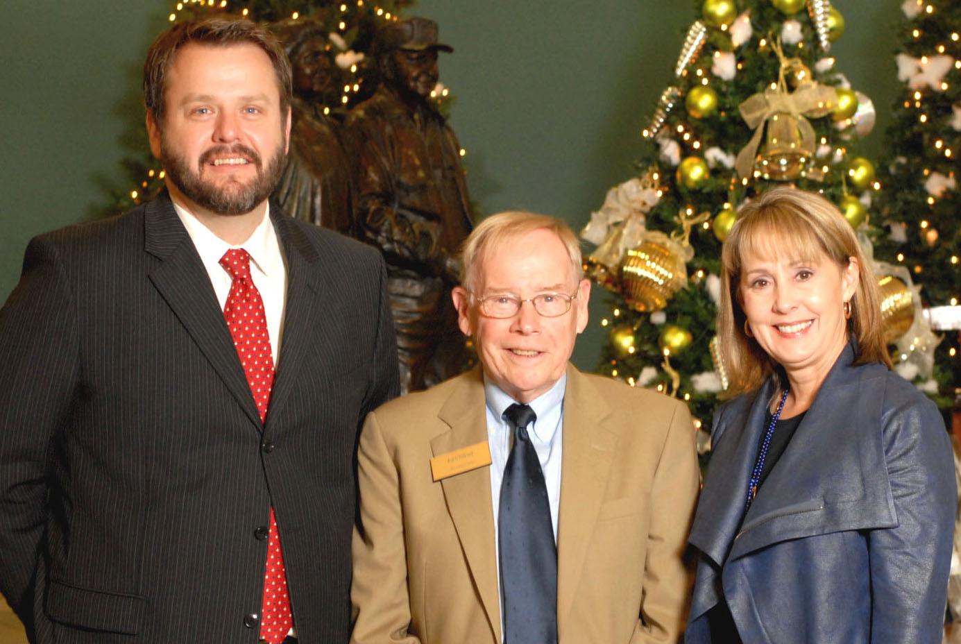 (Left to Right)   Ryan Hale   ,     Program Officer,  Walton Family Foundation;    Ed Clifford  ,   CEO,  Jones Trust;   Anita Scism  ,   President/CEO,  Endeavor Foundation